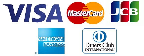 使えるカードのブランドが2種類しかない